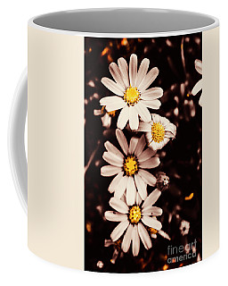 Wilting And Blooming Floral Daisies Coffee Mug