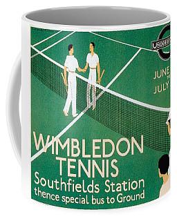 Wimbledon Tennis Southfield Station - London Underground - Retro Travel Poster - Vintage Poster Coffee Mug