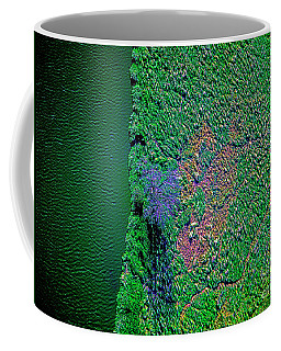 Wind Blown Marsh Tree And Water Coffee Mug
