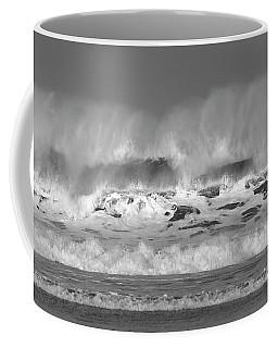 Coffee Mug featuring the photograph Wind Blown Waves by Nicholas Burningham