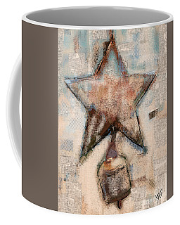 Coffee Mug featuring the mixed media Wind Chime by Carrie Joy Byrnes