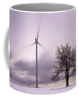 Wind Power Station, Ore Mountains, Czech Republic Coffee Mug