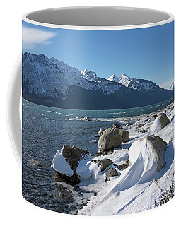 Wind Sculpted Snow By The Chilkat Inlet Coffee Mug
