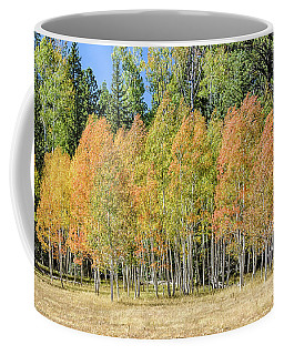 Coffee Mug featuring the photograph Windblown Aspen by Gaelyn Olmsted