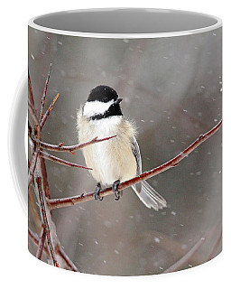Windblown Chickadee Coffee Mug