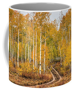 Coffee Mug featuring the photograph Winding Autumn Road by Spencer Baugh