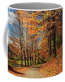 Winding Country Road In Autumn Coffee Mug