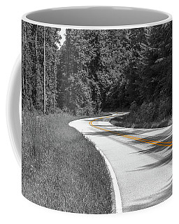 Winding Country Road In Selective Color Coffee Mug