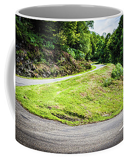 Coffee Mug featuring the photograph Winding Road With Sharp Bend Going Up The Mountain by Semmick Photo