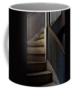 Winding Staircase With Banister In An Coffee Mug