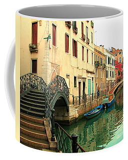 Winding Through The Watery Streets Of Venice Coffee Mug by Barbie Corbett-Newmin