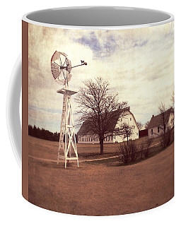 Coffee Mug featuring the photograph Windmill At Cooper Barn by Julie Hamilton