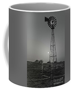 Coffee Mug featuring the photograph Windmill At Dawn by Robert Frederick