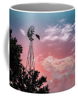 Windmill At Sunset Coffee Mug