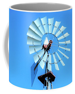 Coffee Mug featuring the photograph Windmill - Bright Sunny Day by Ray Shrewsberry