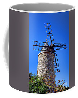 Coffee Mug featuring the photograph Windmill In Provence by Olivier Le Queinec
