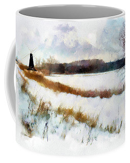 Windmill In The Snow Coffee Mug