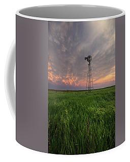 Coffee Mug featuring the photograph Windmill Mammatus by Aaron J Groen