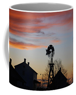 Windmill Sunset Coffee Mug