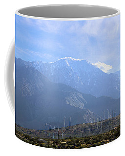 Coffee Mug featuring the photograph Windmills At San Jacinto Mt by Viktor Savchenko