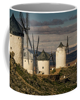 Coffee Mug featuring the photograph Windmills Of La Mancha by Heiko Koehrer-Wagner