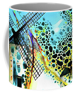 Coffee Mug featuring the painting Windmills Of  La Mancha by Valerie Anne Kelly