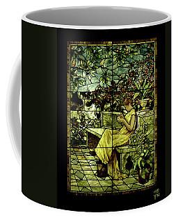 Window - Lady In Garden Coffee Mug by Shirley Heyn