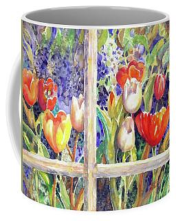 Window Box Tulips Coffee Mug