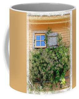 Coffee Mug featuring the photograph Window Floral In Plymouth by Joan  Minchak