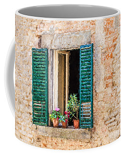 Window Flowers Of Tuscany Coffee Mug