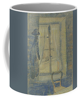 Coffee Mug featuring the painting Window In The Bataille Restaurant Paris, February - March 1887 Vincent Van Gogh 1853 - 1890 by Artistic Panda
