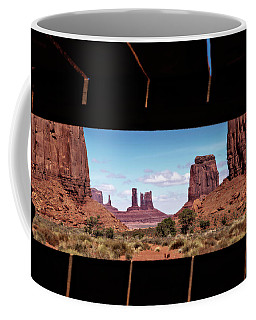 Window Into Monument Valley Coffee Mug by Eduard Moldoveanu