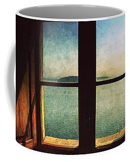 Window Overlooking The Sea Coffee Mug