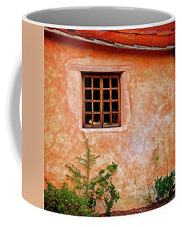 Window Reading At Carmel Mission, California Coffee Mug