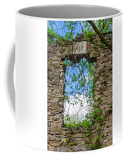 Coffee Mug featuring the photograph Window Ruin At Bridgetown Millhouse Bucks County Pa by Bill Cannon