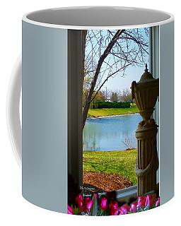 Window View Pond Coffee Mug