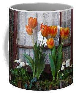Windowbox Tulips Coffee Mug