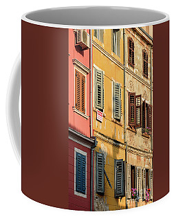 Windows Of Rovinj, Istria, Croatia Coffee Mug