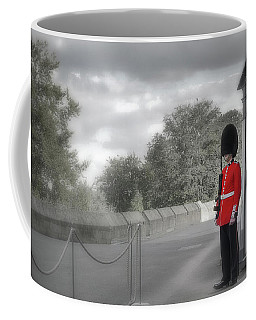 Coffee Mug featuring the photograph Windsor Castle Guard by Joe Winkler