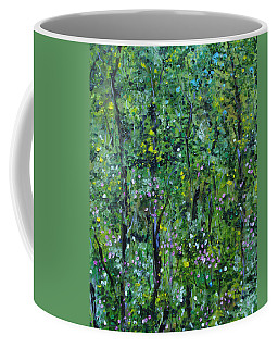 Coffee Mug featuring the painting Windsor Way Woods by Judith Rhue