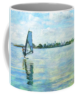 Windsurfing In The Bay Coffee Mug