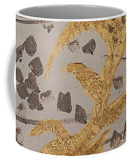 Windswept Golden Plantae #4 Coffee Mug by Rachel Hannah