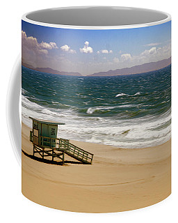 Coffee Mug featuring the photograph Windy Beach Day by Joseph Hollingsworth
