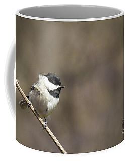 Windy Day Chickadee Coffee Mug