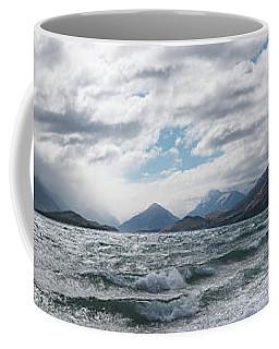 Coffee Mug featuring the photograph Windy Day On Lake Wakatipu by Gary Eason