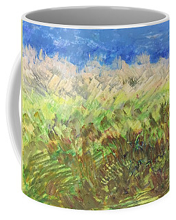 Coffee Mug featuring the painting Windy Fields by Norma Duch