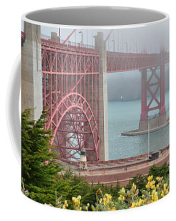 Windy Foggy Golden Gate Bridge  Coffee Mug