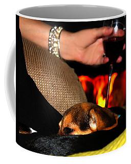 Wine And A Fire And A Dog Coffee Mug