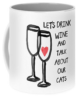 Wine And Cats- Art By Linda Woods Coffee Mug
