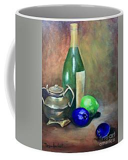 Wine Bottle,brass And Lemons Coffee Mug